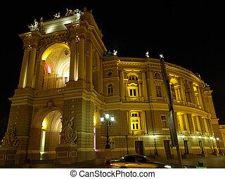 Oper, Theater, Gebäude, odessa, Ukraine
