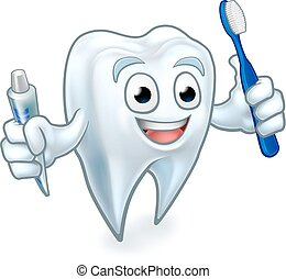 Tooth Mascot Cartoon Character - Cute tooth dentists mascot...