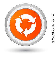 全盛時期, 按鈕, 刷新, 橙, 輪, 圖象