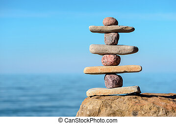 Compound of stones - Balancing several of stones on the...