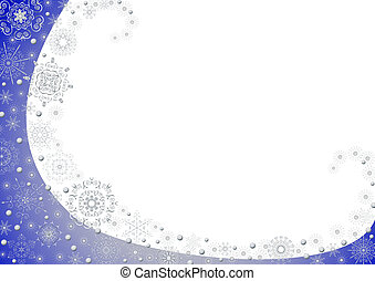 Blue Christmas frame with stars