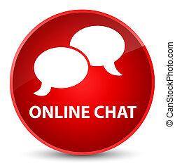 Online chat elegant red round button