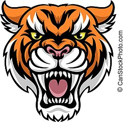 Angry Tiger Mascot