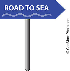 road to sea sign
