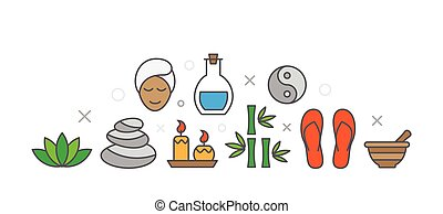 SPA Illustration with icons