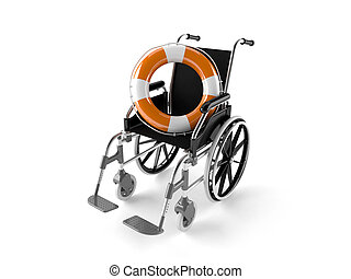 Wheel chair with buoy