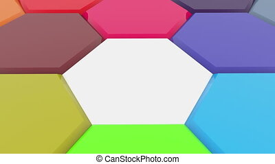 Moving polygons in different colors