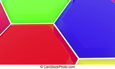 Polygons in different colors