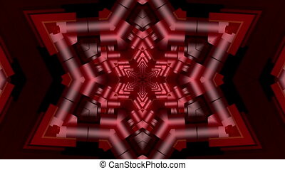 Abstract mosaic in red color