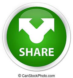 Share premium green round button
