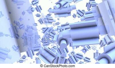 Rotating valves on white