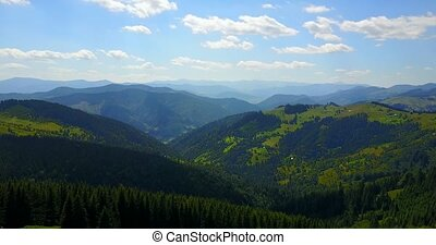 Aerial view of the mountains Carpathians, Eastern Europe,...