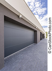 Enormous garage door - Enormous automatic garage door, and a...