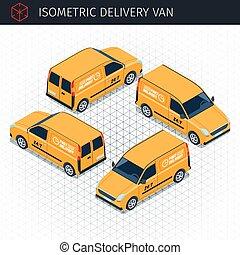 Isometric delivery van