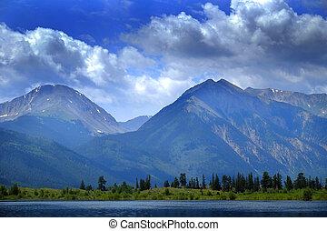 High Mountain Lake in Colorado Rocky Mountains - High...