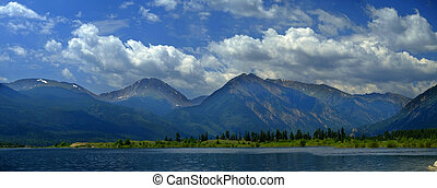 High Mountain Lake in Rocky Mountains Colorado