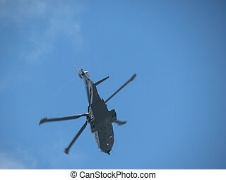 helicopter rotorcraft diuring flight - helicopter rotor...