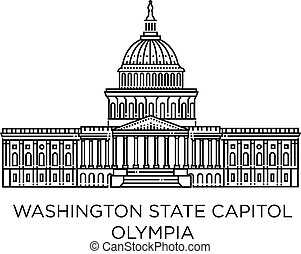Washington State Capitol in Olympia, United States