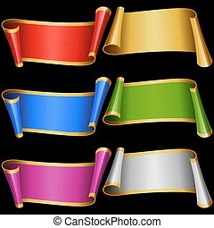 Vector set of Multicolor Banner Ribbons