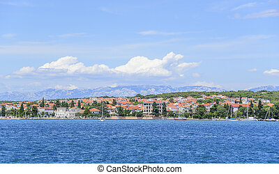 View from the sea to the city of Zadar in Croatia. - View...