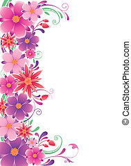 floral background with ornament