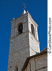 Belltower of the Sanctuary of Saint Maria in Rivotorto...