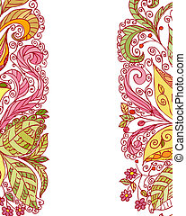 summer abstract floral pattern