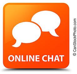 Online chat orange square button