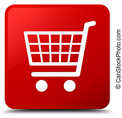 Ecommerce icon red square button