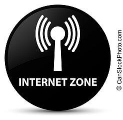 Internet zone (wlan network) black round button - Internet...