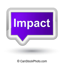 Impact prime purple banner button - Impact isolated on prime...