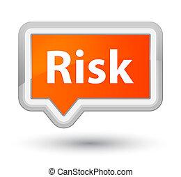 Risk prime orange banner button