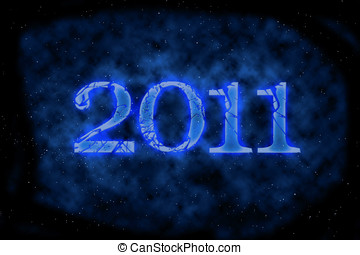 2011 Happy New Year greeting card or background