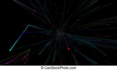 Contemplator of the world wide web.Abstract plexus...