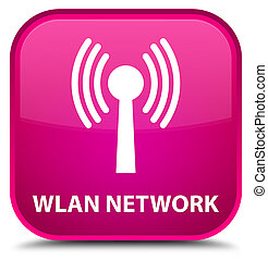 Wlan network special pink square button - Wlan network...