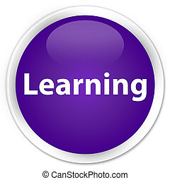 Learning premium purple round button