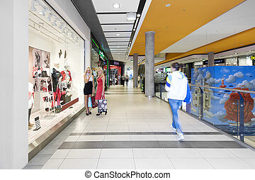 shopping woman - two young beautiful and elegant woman...