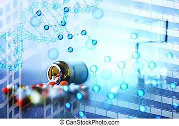 Digital medical backdrop
