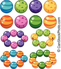 Marbles in different colors illustration