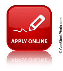 Apply online (edit pen icon) special red square button