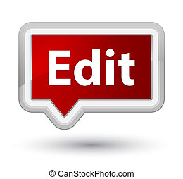 Edit prime red banner button - Edit isolated on prime red...