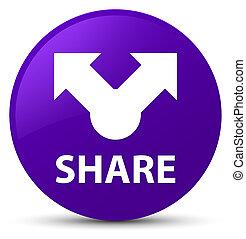 Share purple round button