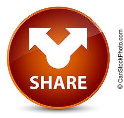 Share elegant brown round button