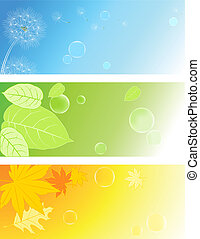 nature backgrounds - vector colored nature backgrounds with...