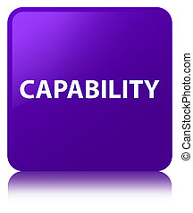 Capability purple square button - Capability isolated on...