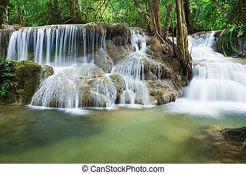 Level 7 of Huay Mae Kamin waterfall in Khuean Srinagarindra...
