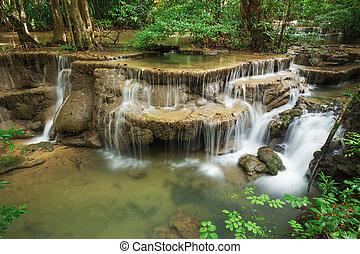 Level 6 of Huay Mae Kamin waterfall in Khuean Srinagarindra...