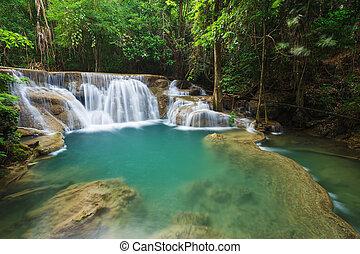 Huay Mae Kamin waterfall in Khuean Srinagarindra National...