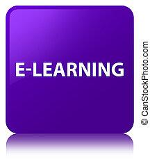 E-learning purple square button