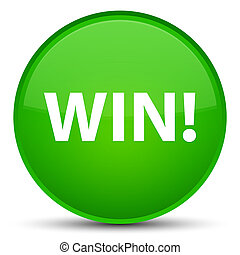 Win special green round button